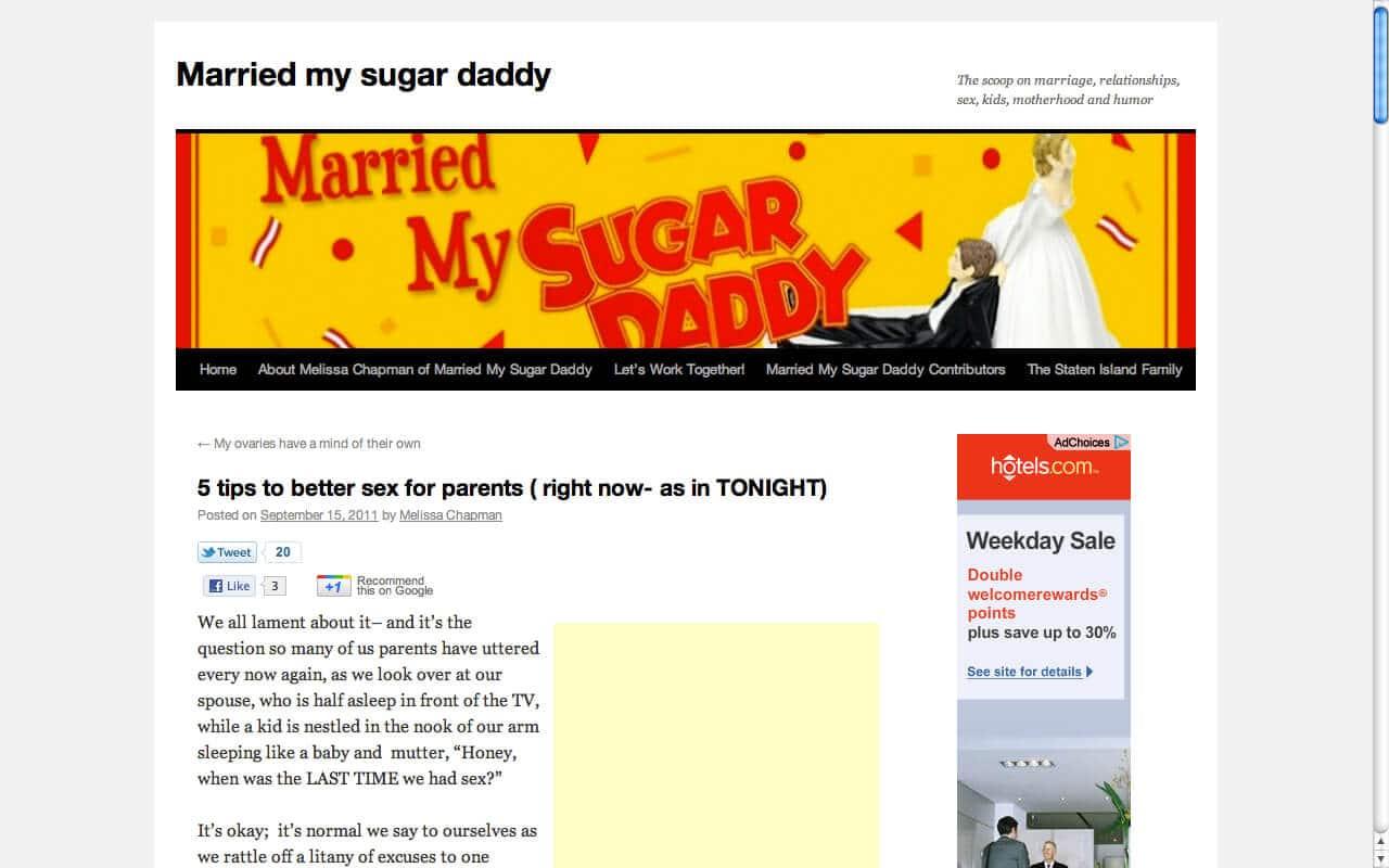 Married my sugar daddy for Married sugar daddy