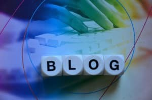 This picture says 'blog.'