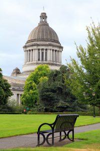 The state capitol building in Olympia, Washington