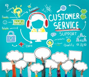 How does your business handle customer service issues on social media?