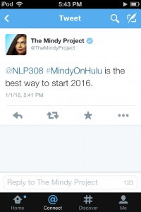 Thanks @TheMindyProject!