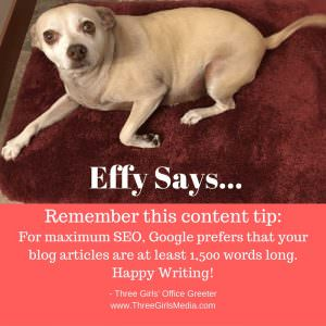 As Effy says, it matters how long your blog posts are!