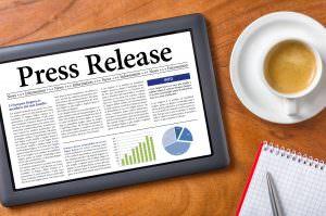 Tablet on a desk - press release