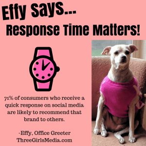 As Effy says, respond to your social media followers promptly!