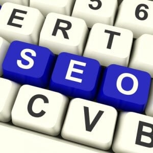 SEO spelled out on keyboard