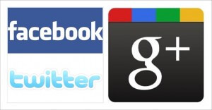 Facebook, Google+ and Twitter are three of the largest social media sites.