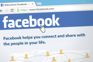 Facebook login page.