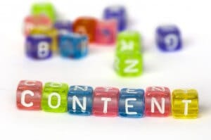 This is a picture of the word 'content.'