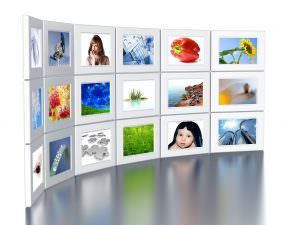 An image of a gallery wall with 15 different images.