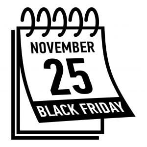 Calendar noting November 25th is Black Friday.
