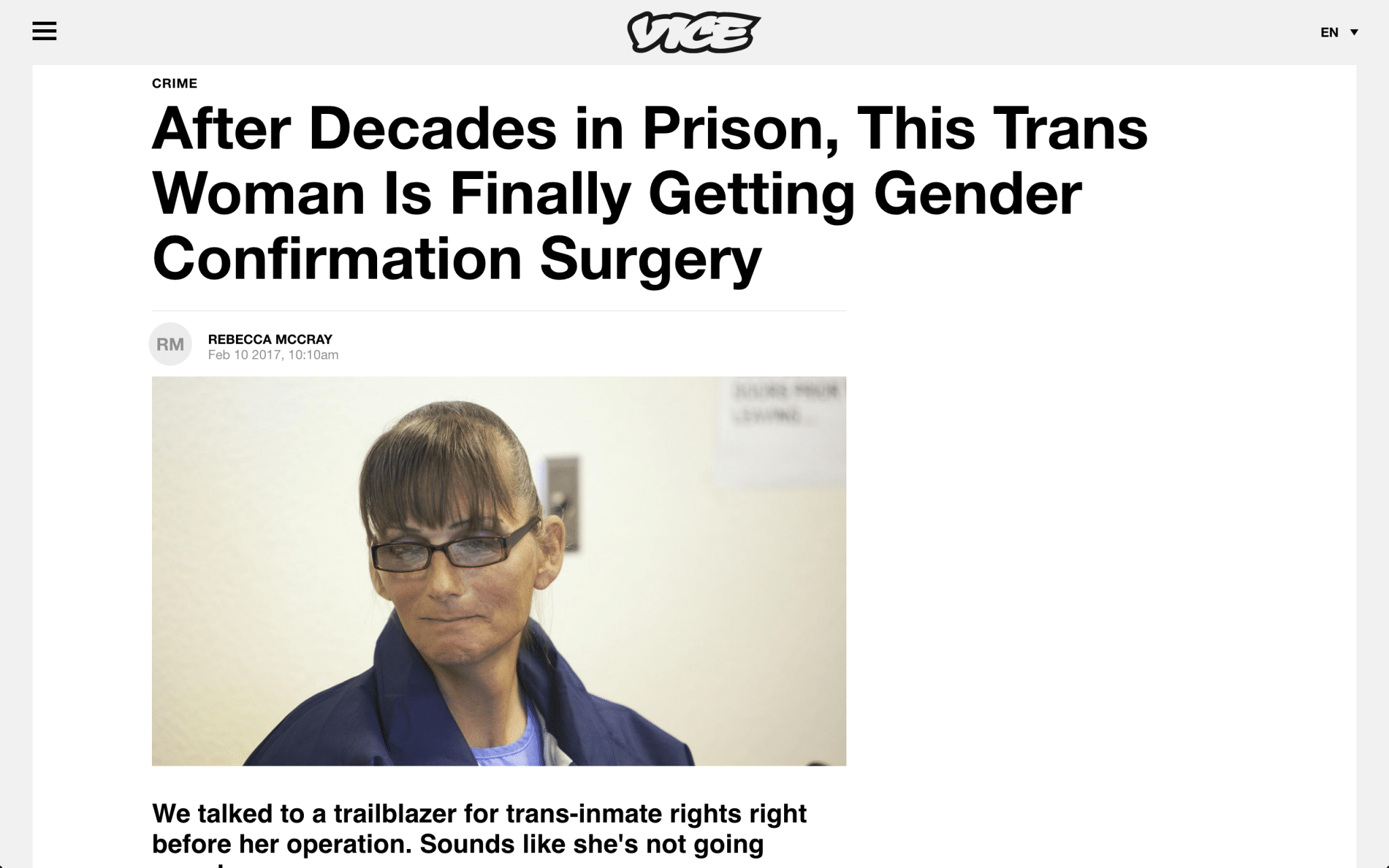 """df3f9cc0355 From the Article: """"Norsworthy is ready to keep pushing for the rights of  trans women. After her surgery, she looks forward to opening Joan's House,  ..."""