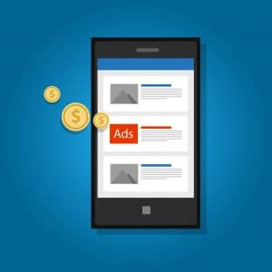 Mobile ads advertising phone click marketing digital