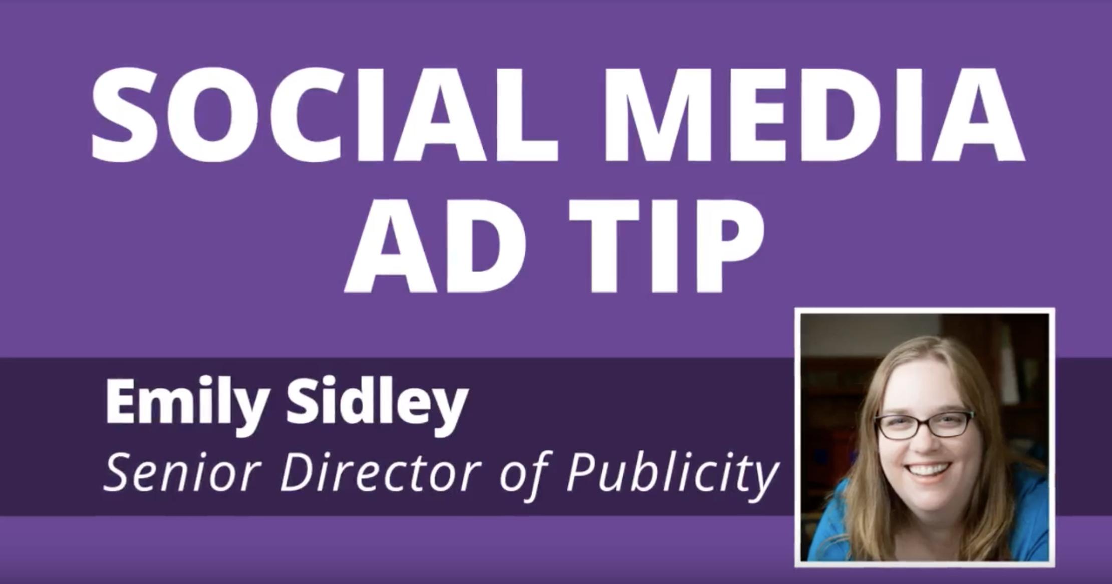 Video: Social Media Ad Tip