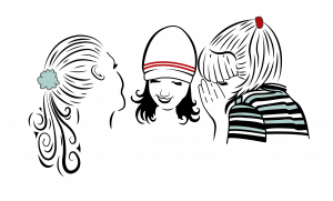 Three Girls Media logo of three girls gossiping, symbolic of successful marketing
