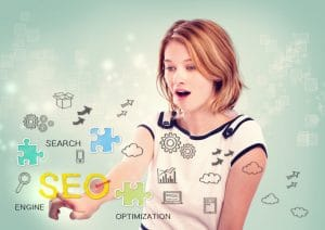 Girl discovering SEO.