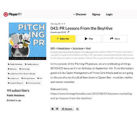 Pitching PR: A Public Relations Podcast
