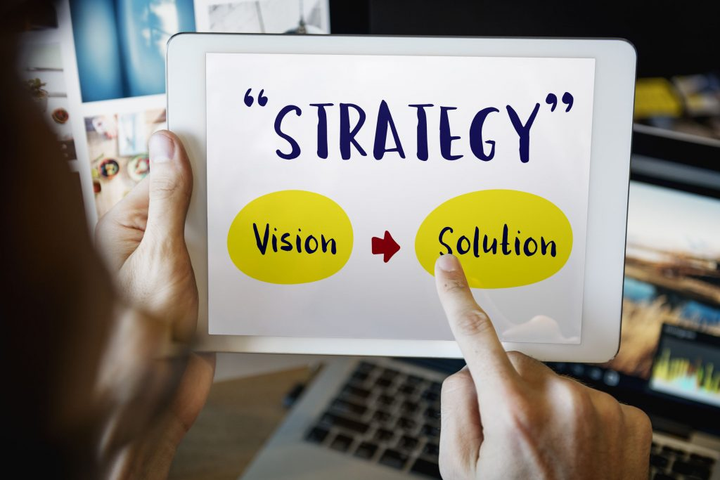Social media crisis strategy, create a vision find a solution.