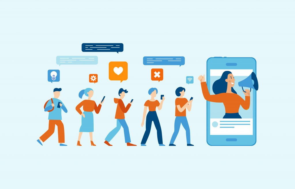 Organic social media engagement icon image
