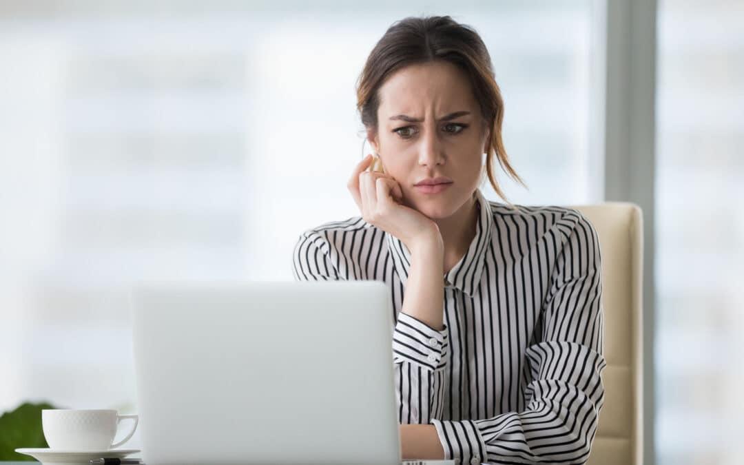 Marketing manager handling social media crisis