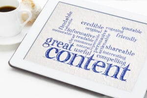 create content with active voice