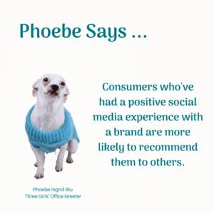 Phoebe giving advice on social media