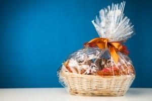 A gift basket, thank you