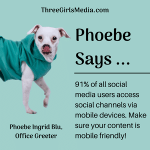 Phoebe gives advice on mobile friendly content