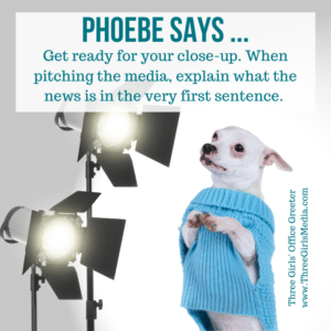 Phoebe in the spotlight giving public relations advice
