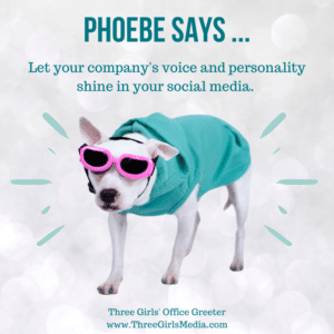 Phoebe with social media pesonality advice